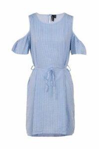 Pinstripe Belt Dress