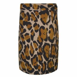 Vivienne Westwood Anglomania Leopard Printed Mini Pencil Skirt