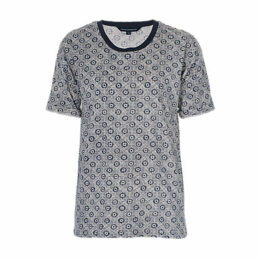 French Connection Medina Tile Print T-Shirt, Nocturnal/Multi