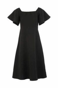 Flared Sleeve Bardot Dress