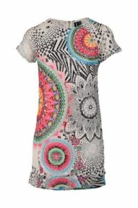 Psychedelic Print Shift Dress