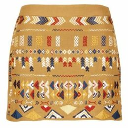 See U Soon  LUIDAS  women's Skirt in Yellow