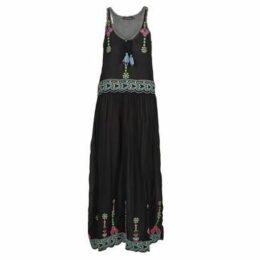 Antik Batik  SANAH  women's Long Dress in Black