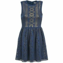 Manoush  NEOPRENE  women's Dress in Blue