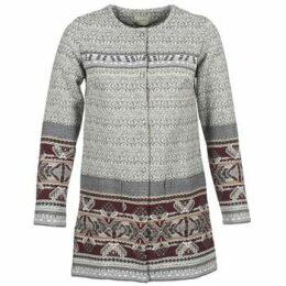 Cream  AVA  women's Coat in Grey