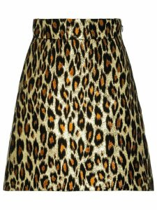 Miu Miu leopard brocade skirt - Gold
