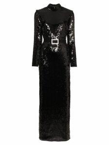 De La Vali Bugsy sequin embellished maxi dress - Black
