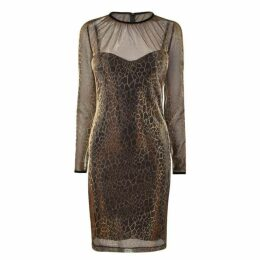 Just Cavalli Metallic Leopard Dress