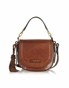 The Bridge Designer Handbags, Medium Leather Messenger Bag w/Tassels