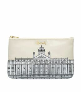 Illustrated Building Cosmetic Bag