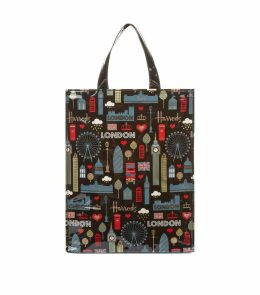 Medium Glitter London Shopper Bag