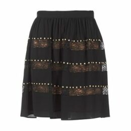 MICHAEL Michael Kors  HT/ LACE MIX  women's Skirt in Black