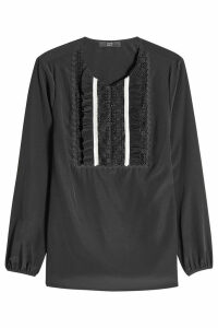 Steffen Schraut Embroidered Silk Blouse