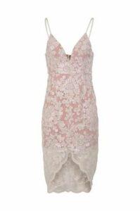 Lace Print Slip Dress