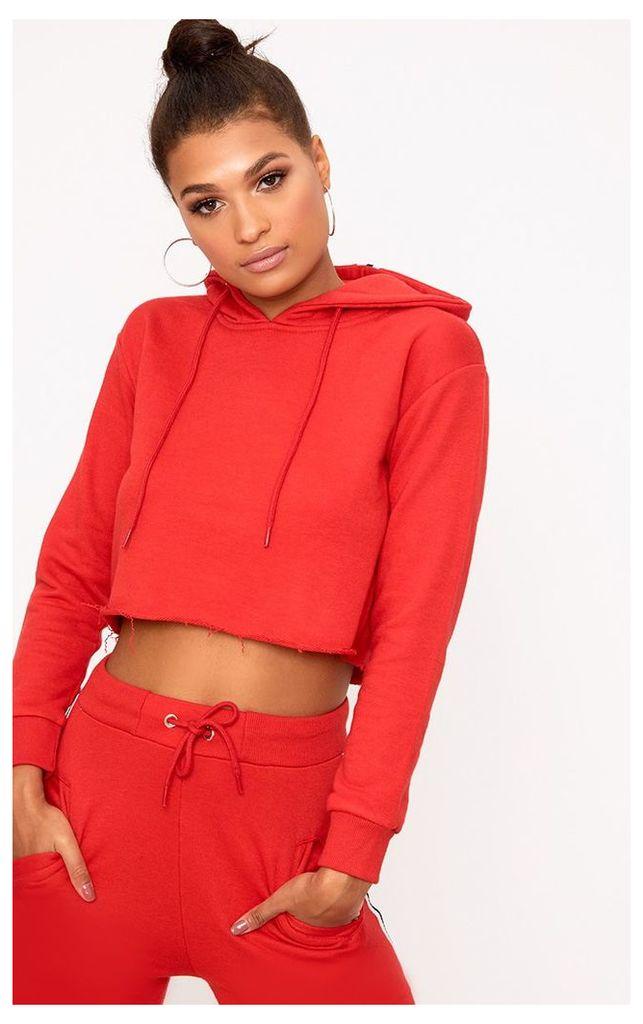 Red Stripe Hoodie, Red
