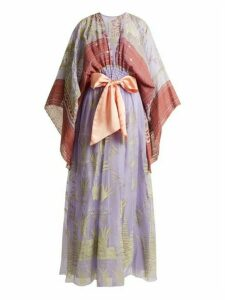 Zandra Rhodes - Summer Collection The 1973 Field Of Lilies Gown - Womens - Purple Multi