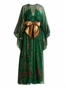 Zandra Rhodes - Summer Collection The 1973 Field Of Lilies Gown - Womens - Green