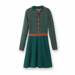 Knitted Jacquard Patterned Dress