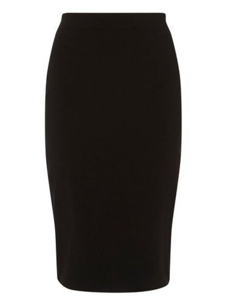 Womens Black Pencil Skirt- Black, Black