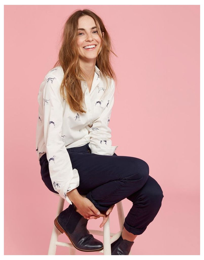 be13b9ab0d5 Cream Etched Whippets Karina Loose Fit Shirt Size 14 | Joules UK by ...