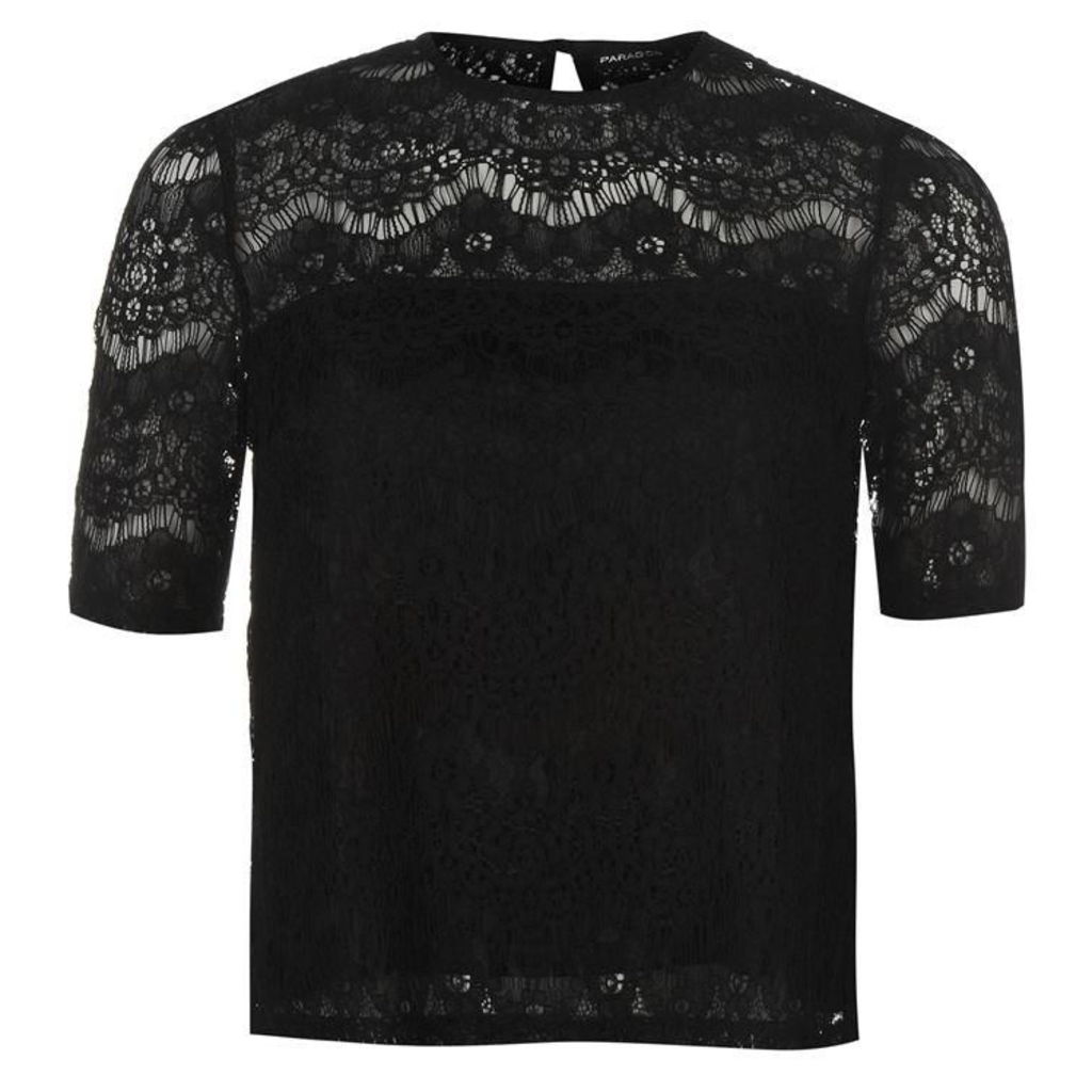 Firetrap Blackseal Lace Top