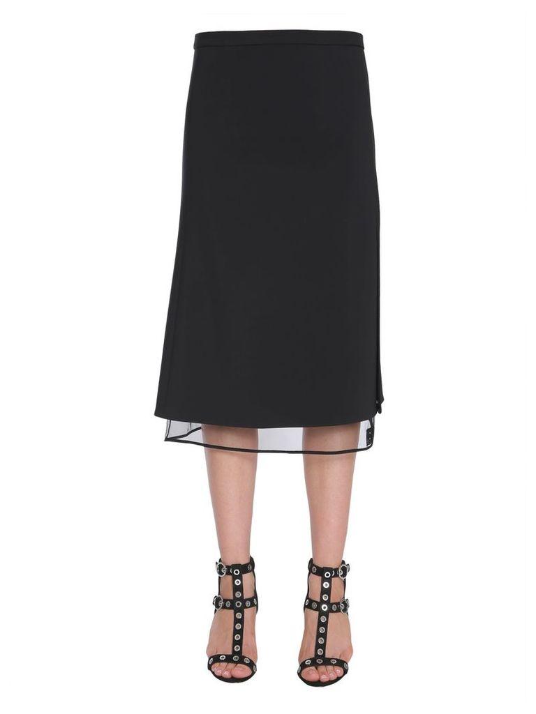 Versace Midi Crêpe Skirt