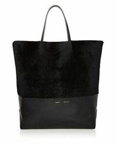 Alice.d Husky Large Shearling and Leather Tote