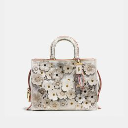 Coach Rogue With Snakeskin Tea Rose