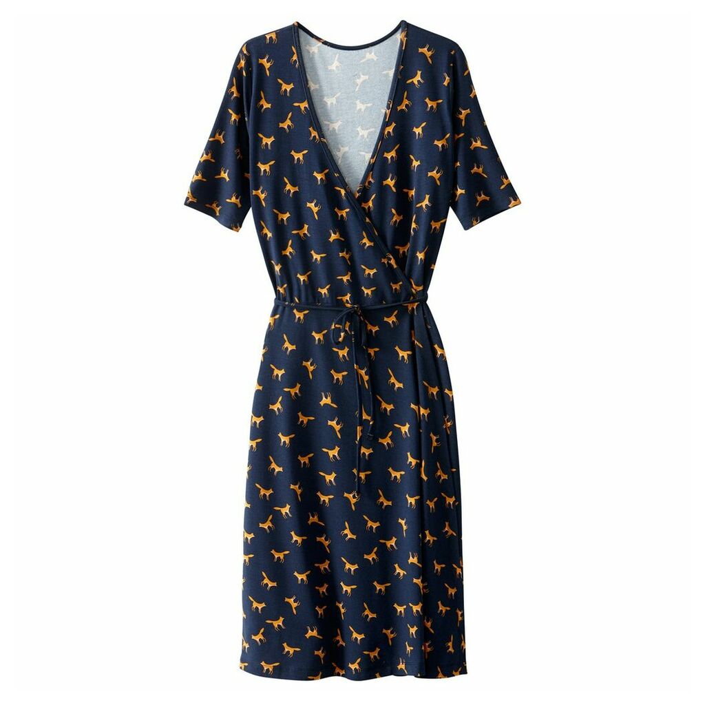 Triangle Print Wrapover Dress