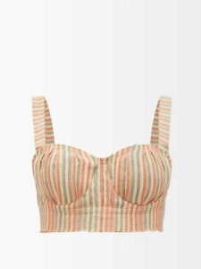Altuzarra - Angela Single Breasted Floral Brocade Blazer - Womens - Burgundy Print
