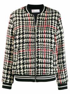 Red Valentino tartan knit bomber jacket - Black