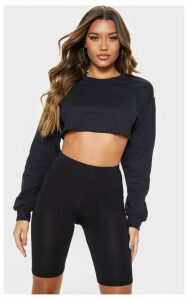 Black Ultimate Cropped Sweater, Black
