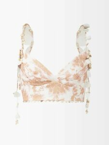 Rosie Assoulin - El Capo Detachable Cape Satin Gown - Womens - Green