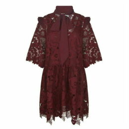 Perseverance London Frill Tie Lace Dress