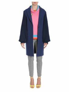 Mira Mikati Rib-knit Sleeve Coat