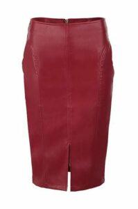 Pu Split Front Skirt