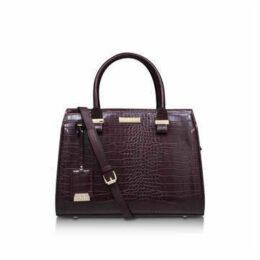 Carvela Holly Croc Zip Bag - Wine Tote Bag