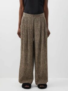 Altuzarra - Belloza Faux Pearl Embellished Mink Fur Coat - Womens - Dark Brown