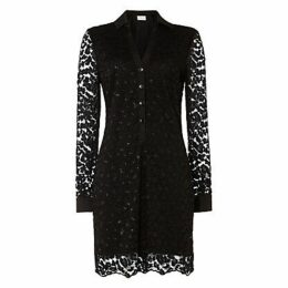 Damsel in a Dress Lace Shirt Dress, Black