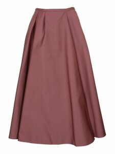 Rochas Satin Pleated Skirt
