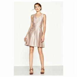 Metallic Style Skater Dress
