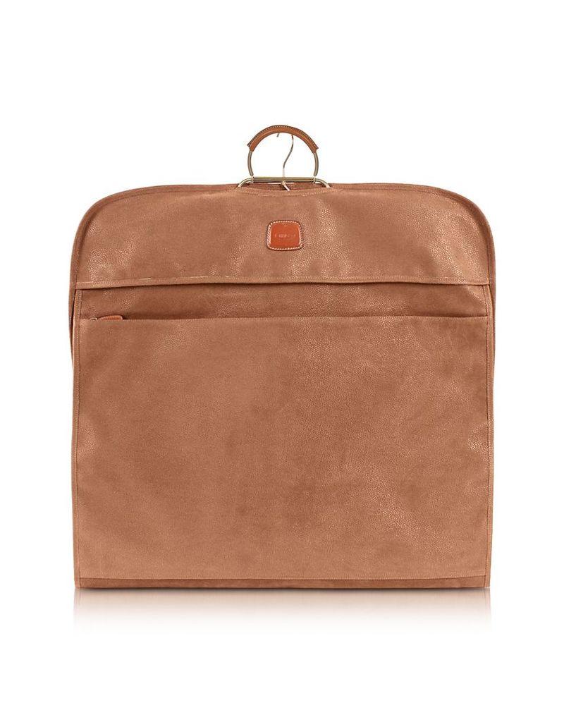 Bric's Designer Travel Bags, Life Camel Micro-Suede Garment Bag