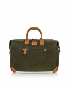 Bric's Designer Travel Bags, Life - Olive Green Micro Suede 18