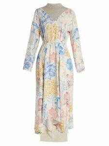 Vetements - Contrast Panel Floral Print Dress - Womens - Multi