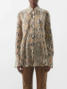 Mansur Gavriel - Circle Cotton Canvas Cross Body Bag - Womens - Blue Stripe