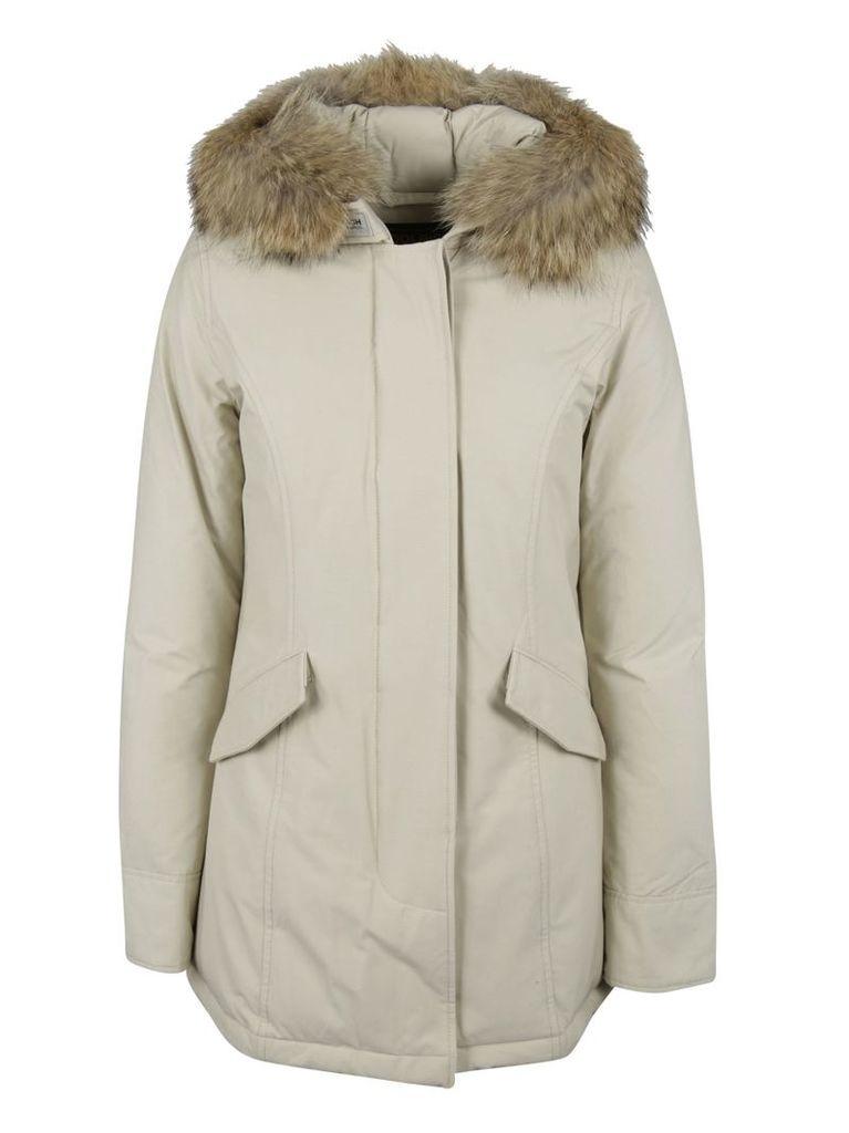 Woolrich Fur Trim Hooded Parka
