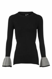 Flared Sleeve Knit Top