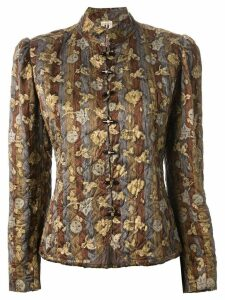Emanuel Ungaro Pre-Owned floral quilted jacket - Green
