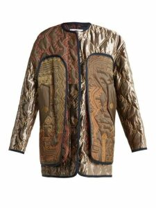 Peter Pilotto - Graphic Embroidered Lightly Padded Coat - Womens - Brown Multi