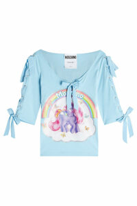 Moschino Little Pony Printed Cotton Top with Bows